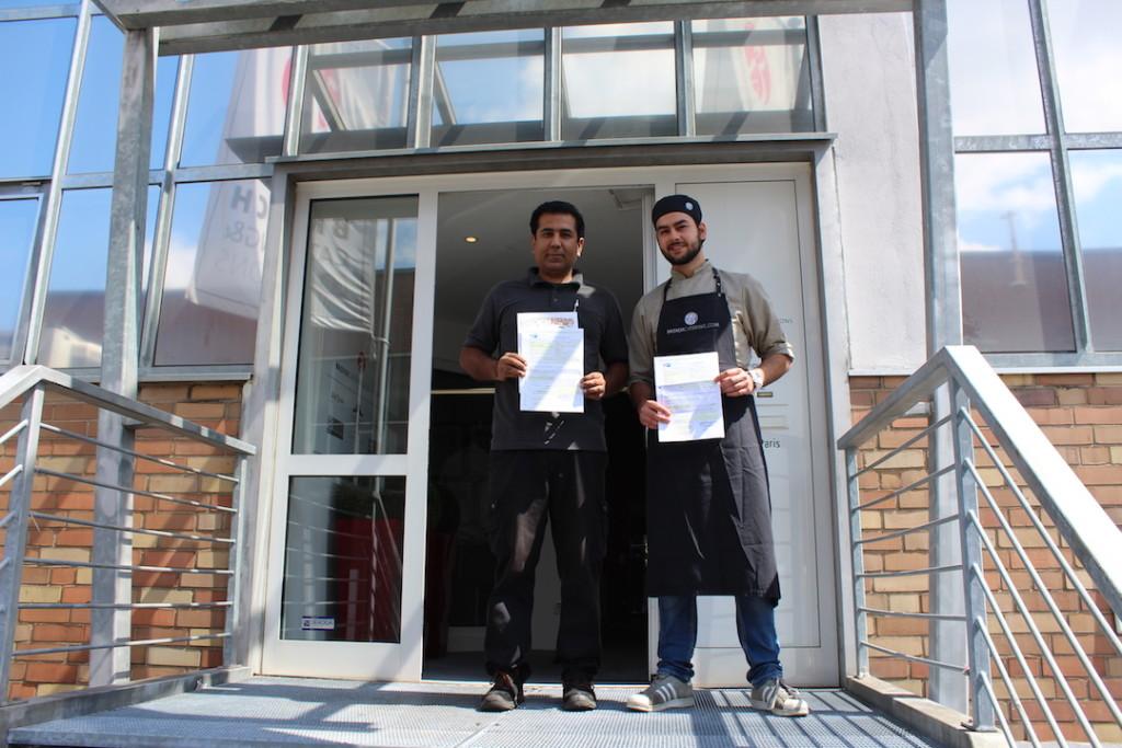 Fluechtlinge beginnen Ausbildung bei Broich